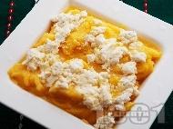 Вкусен качамак от царевичен грис / брашно със сирене и масло - класическа рецепта